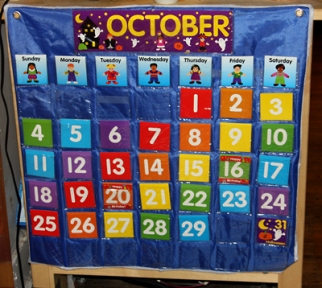 A traditional calendar…This is the way we usually represent days and weeks, but why? Image Source: http://www.1plus1plus1equals1.com/calendar.html
